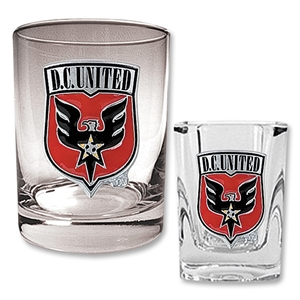 D.C. United Rocks Glass and Square Shot Glass Set