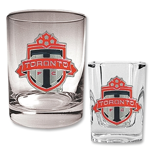 Toronto FC Rocks Glass and Square Shot Glass Set