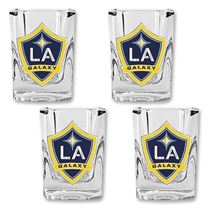 LA Galaxy 4 piece Square Shot Glass Set