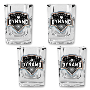 Houston Dynamo. 4 pc. Square Shot Glass Set