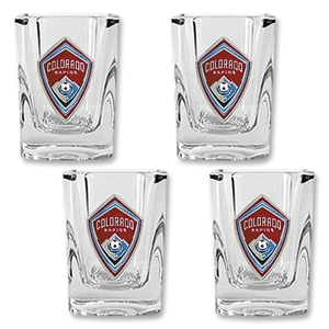Colorado Rapids 4 pc Square Shot Glass Set