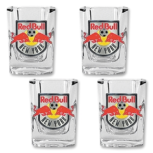 NY Red Bulls Four Piece Square Shot Glass Set
