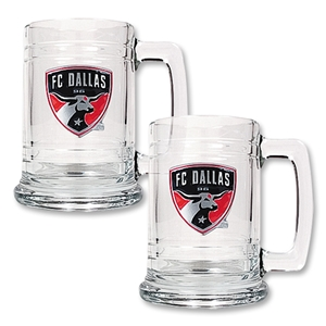 FC Dallas 2 pc. 15 oz. Glass Tankard Set