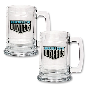 KC Wizards 2 pc 15 oz. Glass Tankard Set