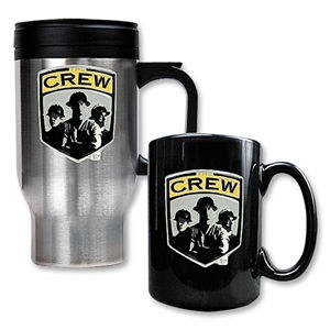 Columbus Crew Stainless Steel Travel Mug and Black Mug