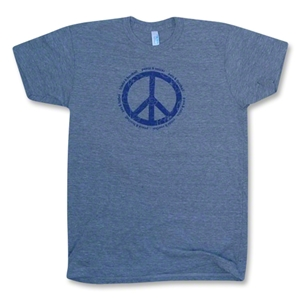 Peace and Soccer T-Shirt (Dk Grey)