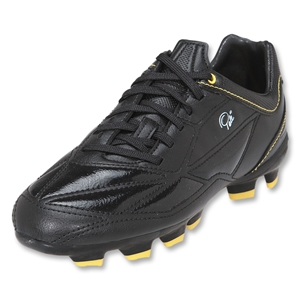 Pele Sports 1958 FG KIDS Soccer Shoes (Black/Yellow)