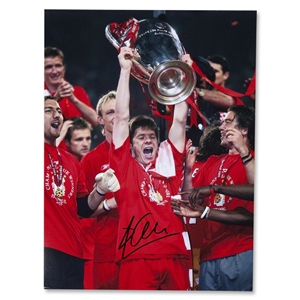 Signed Xabi Alonso Liverpool Istanbul Photo