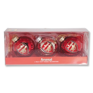 Arsenal Christmas Tree Ornament 3 Pack