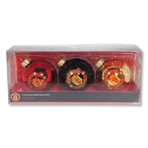 Manchester United Christmas Tree Ornament 3 Pack