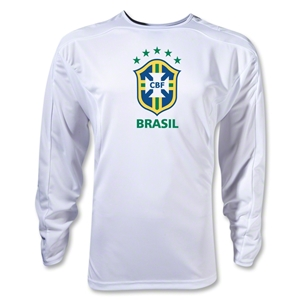 Brazil Poly LS T-Shirt (White)