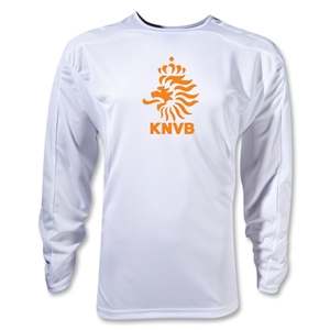 Netherlands Poly LS T-Shirt (White)