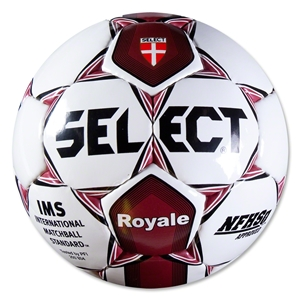 Select Royale NFHS Soccer Ball (White/Maroon)