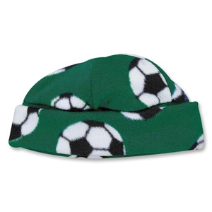 Soccer Ball Fleece Beanie (Green)