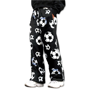 Soccer Ball Warm Lounge Pants (Black)