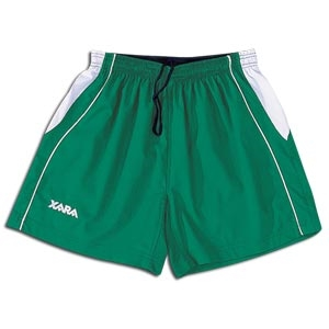 Xara Women's International Soccer Shorts (Gn/Wh)