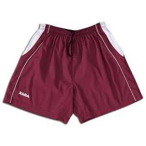 Xara International Soccer Shorts (Maroon/Wht)