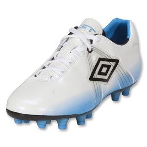 Umbro GT Pro HG Soccer Shoes (White/Black/Blue)