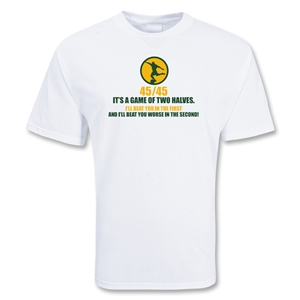 Two Halves 45/45 Soccer T-Shirt (White)