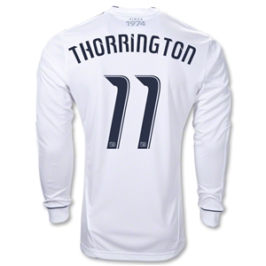 Vancouver Whitecaps 10/11 THORRINGTON LS Authentic Home Soccer Jersey