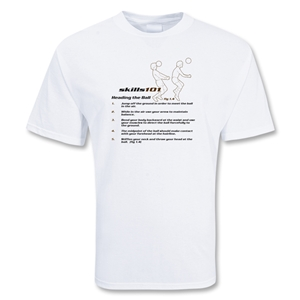 Skill 101 Heading Soccer T-Shirt (White)