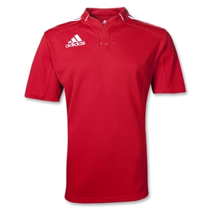 adidas Three Stripe III Rugby Jersey (Red/White)
