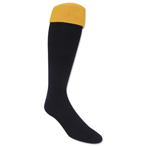 365 Turndown Rugby Socks (Navy/Yellow)