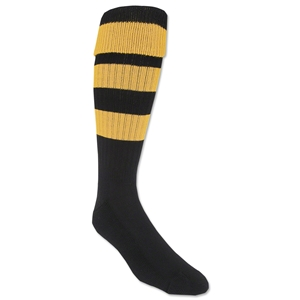365 Hoop Rugby Socks (Black/Yellow)