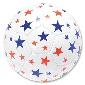 Red and Royal Stars Soccer Ball