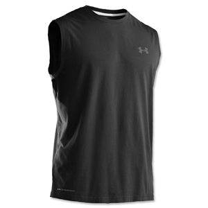 Under Armour Charged Cotton Sleeveless T-Shirt (Black)