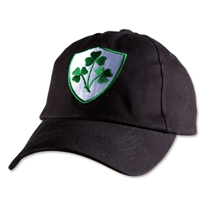 Ireland Clover Crest Flex-Fit Hat (Black)