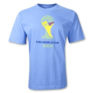 adidas 2014 FIFA World Cup Brazil Official Emblem T-Shirt (Sky)