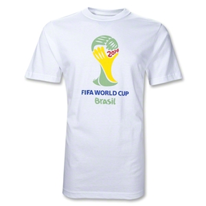 adidas 2014 FIFA World Cup Brazil Official Emblem T-Shirt (White)