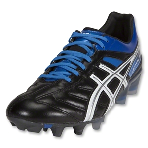 Asics Lethal Tigreor Cleats (Black/White/Pacific/Blue)