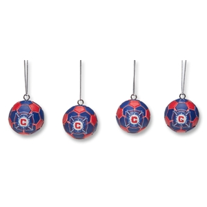 Chicago Fire Ball Ornament 4 Pack