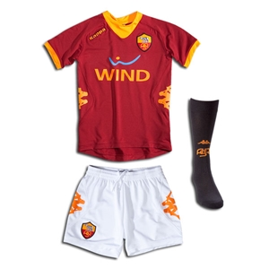 AS Roma 11/12 Home Youth Soccer Kit