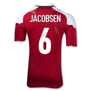 Denmark 12/13 JACOBSEN Authentic Home Jersey