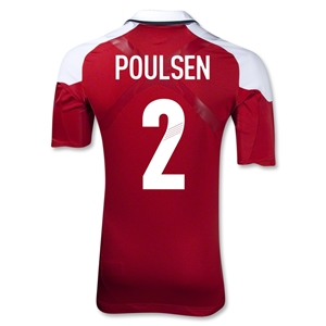 Denmark 12/13 POULSEN Authentic Home Jersey
