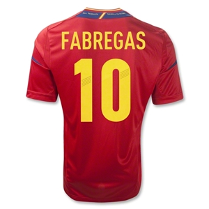 Spain 11/13 FABREGAS Home Soccer Jersey