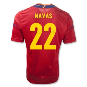 Spain 11/13 NAVAS Home Soccer Jersey