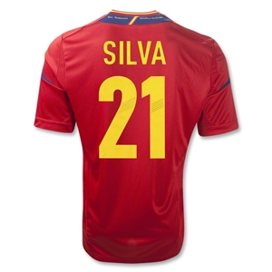 Spain 11/13 SILVA Home Soccer Jersey