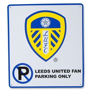 Leeds United No Parking Sign