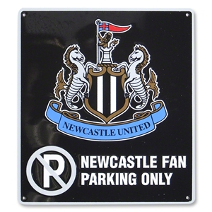 Newcastle United No Parking Sign