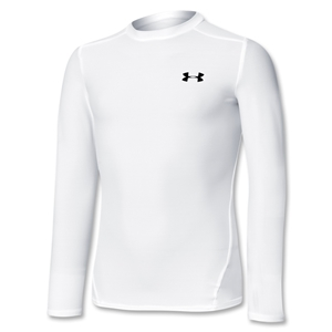 Under Armour Youth Heatgear White Compression LS T-Shirt
