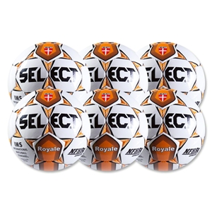 Select Royale Orange Game Ball 6 Pack