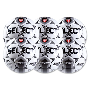 Select Royale White/Black Game Ball 6 Pack