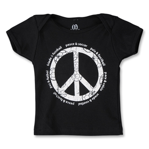 Peace Sign with Soccer Lingo Infant T-Shirt (Black)