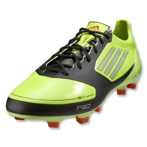 adidas F50 adizero TRX FG Cleats (Slime/Black/Chrome)