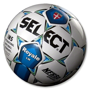 Select Royale LW Soccer Ball (WHITE/BLUE/GREEN)