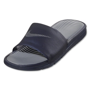 Nike Benassi Solarsoft Slide-Midnight Navy/Cool Grey